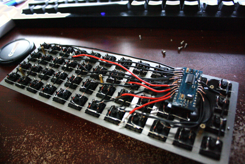 Mechanical keyboard with a slide potentiometer
